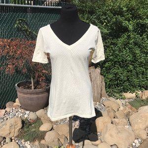 V neck and V back T shirt